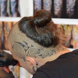 tatoo of megamind by Sudipta Deb - People Body Art/Tattoos ( head, tatoo, scalp )
