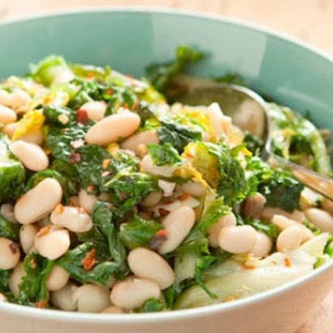 Sauteed Greens with White Beans and Garlic