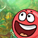Red Rolling Ball Adventure Icon