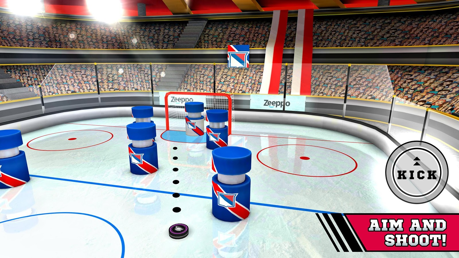 Pin Hockey - Ice Arena Screenshot 0