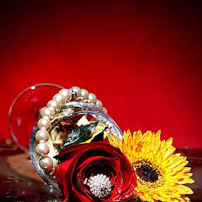 RICHERS by WanUkay Perdana - Nature Up Close Flowers - 2011-2013 ( rose, ring, red, glass, daisy, flowers, necklace )