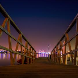 dubai creek by Lino Jacob - City,  Street & Park  Night ( canon1855mm, night photography, beautiful, linojacobphotography, canon eos, linojacob, dubaicreek )
