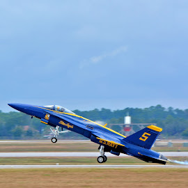 Liftoff by Jarrod Unruh - Transportation Airplanes ( performance, outdoors, aircraft, navy, jet, military, airshow )