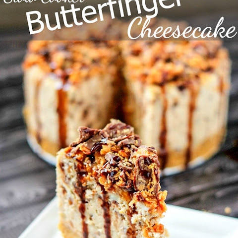 Slow Cooker Butterfinger Cheesecake