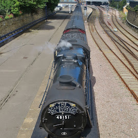 Steam train by Eloise Rawling - Transportation Trains ( scarborough, train station, steam train, train )