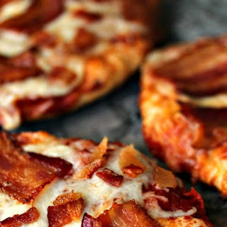 Easy Grilled Mini Bacon Pizzas