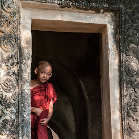 Young Monk in Myanmar by John Klingel - People Street & Candids