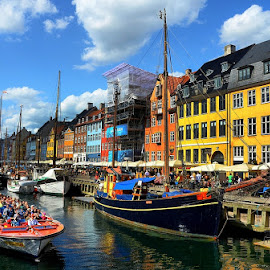 Nyhavn Ferry Boat by Francis Xavier Camilleri - City,  Street & Park  Historic Districts