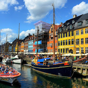 Nyhavn Ferry Boat by Francis Xavier Camilleri - City,  Street & Park  Historic Districts (  )