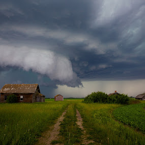 Tornado by Drew May - Landscapes Cloud Formations ( clouds, canada, alberta, drew may photo, devon, landscape, homestead, drewmayphoto, outdoor, summer, day, tornado, fields,  )