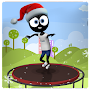 Trampoline Stickman Game:Addictive Endless Jumping