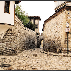 Old town in Plovdiv - Bulgaria by S. S. - City,  Street & Park  Vistas ( old town in plovdiv bulgaria old sepia architecture )
