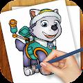 Learn to Draw Paww Patrol
