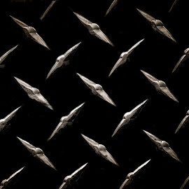 Diamond Pattern by Christy Stanford - Abstract Patterns ( abstract, diamond, silver, black, shapes )