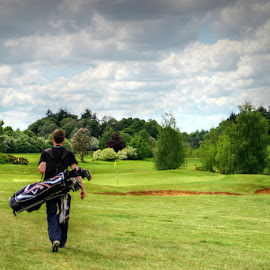 Golfing day by Stephanie Veronique - Sports & Fitness Golf ( sportiff, golf bag, walking, golf course, green, sports, golf club, golf, space, man )