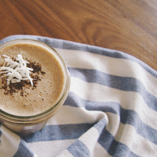 Coconut Espresso Smoothie With Banana And Chocolate