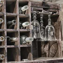 Wine Rack  by Lorraine D.  Heaney - Artistic Objects Other Objects