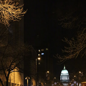 White Light by Doug Maertz - City,  Street & Park  Street Scenes