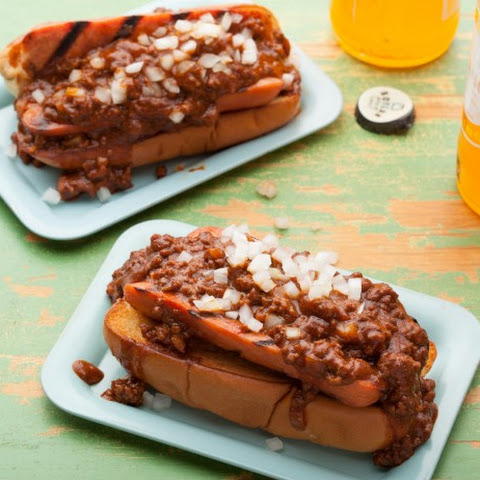 Chili Half-Smoke (D.C.-Style Chili Dog)