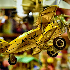 by Marco Bertamé - Artistic Objects Toys ( s, 6, letter, biplane, airplane, %, a, number, 8, yellow )