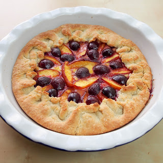 Nectarine And Cherry Galette With Orange-almond Cream