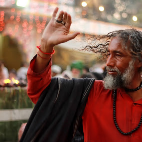 Devotee by Sheraz Mushtaq - People Portraits of Men ( lights, lahore, sufi, festival, devotee )