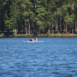 Boating in Lake at Cheraw, SC by Terry Linton - Sports & Fitness Other Sports