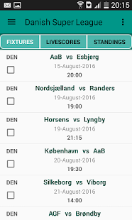 Danish Livescores App - screenshot