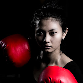 Fighter by Mc Pujiyanta - Sports & Fitness Boxing ( art, sport, boxing, women, fighter, photography )