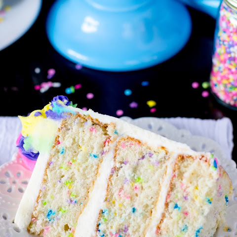Funfetti Cake from Scratch (and an UnBirthday)