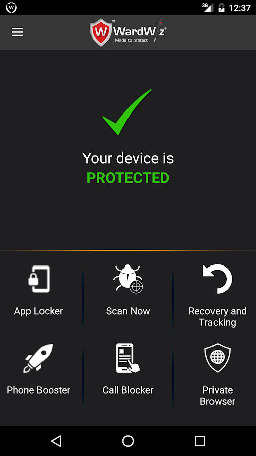 WardWiz Mobilie Security Screenshot 0