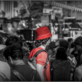 Lonely.... by Satyaki De - People Street & Candids ( parade, street, in, people, lonely )