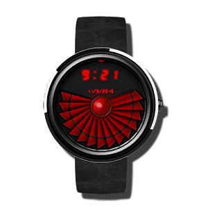 Cyber Red Tech Watch Face