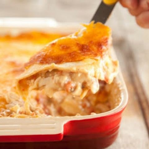 Mexican Chicken Casserole with Cheddar Cheese and Tomatoes