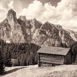 Dolomite Landscape by Sam Alexander - Black & White Landscapes ( 2017, august, italy )