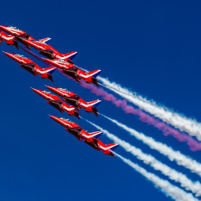 Red Arrows by Jaideep Abraham - News & Events Entertainment ( al ain, raf red arrows, aerobatics, planes, formation, air show )