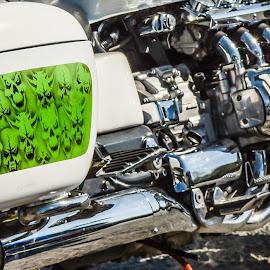 Chrome by Janet Packham - Transportation Motorcycles ( cumbria, motorbike, bikers, silver, chrome, shine )