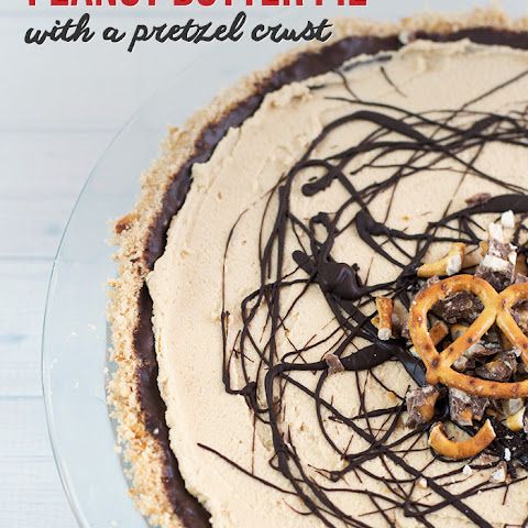Black Bottom Peanut Butter Pie with a Pretzel Crust