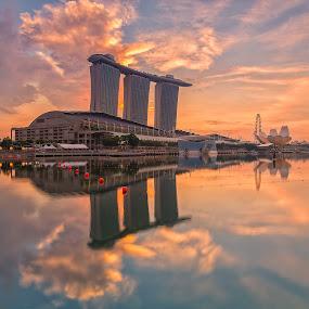 Fabulous sunrise colour by Lb Chong Jacobs - City,  Street & Park  Skylines