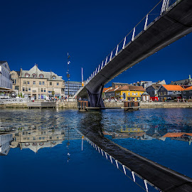 Fredrikstad, Norway 012 by IP Maesstro - Buildings & Architecture Bridges & Suspended Structures ( fredrikstad, ip maesstro, hdr, sea, reflections, bridge, norway )