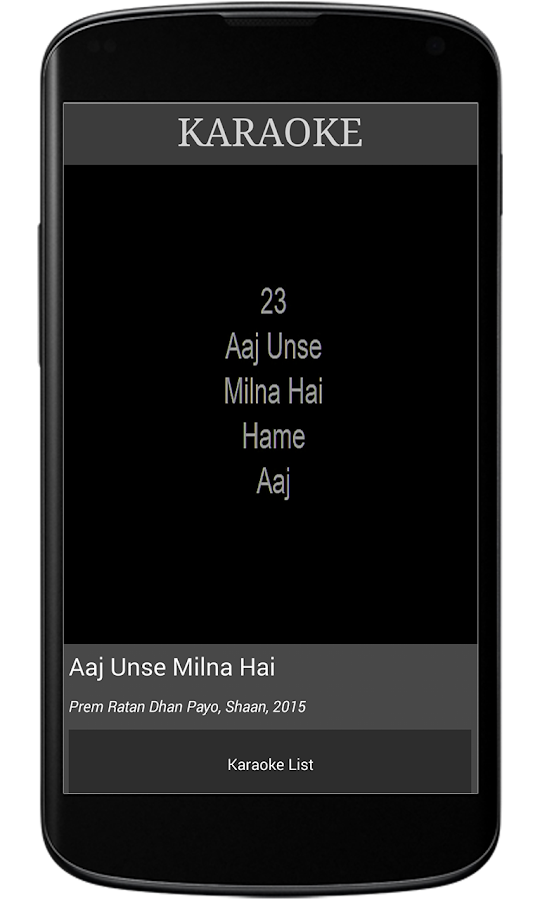 Bollywood Karaoke Pro Screenshot 2