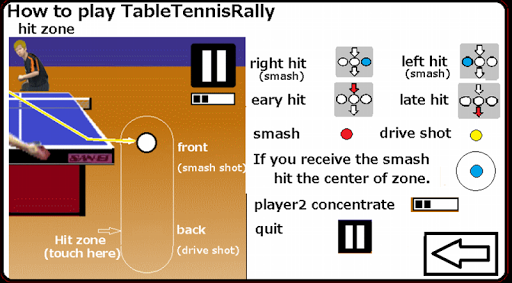 Table Tennis Rally - screenshot