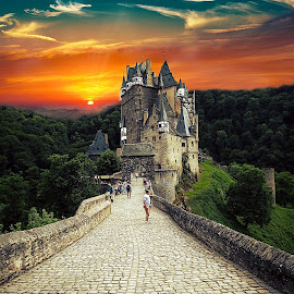 Sunset Burg Eltz by Alexandru VA - Buildings & Architecture Public & Historical ( sunset, sunset burg eltz, burg eltz )