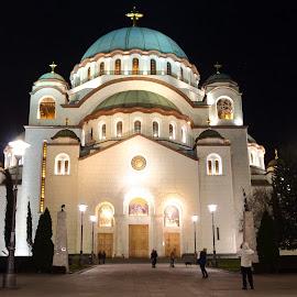 by Zoran Dasic - City,  Street & Park  Historic Districts ( temple, hram svetog save, belgrade church, beograd crkva, church, st. sava temple belgrade )