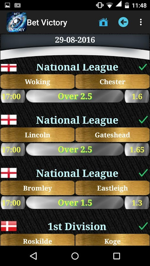 Bet Victory - Betting Tips Screenshot 2