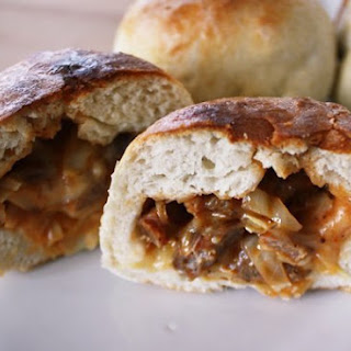 BBQ Cabbage & Sausage Stuffed Sandwiches