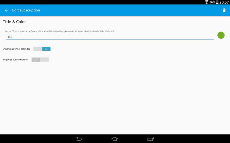 ICSx⁵ (ICSdroid) – sync Webcal & .ics calendars Screenshot 8