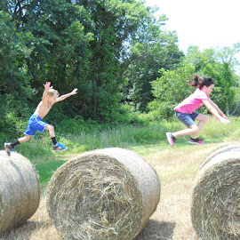 Hay bales fun... by John Richardson - Sports & Fitness Fitness