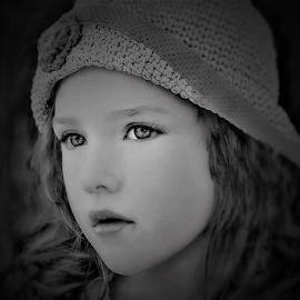 Watching the Weather B&W by Cheryl Korotky - Black & White Portraits & People