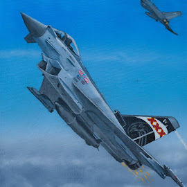 by Paul James - Painting All Painting ( eurofighter, plane, aircraft, typhoon, euro, fighter, jet )